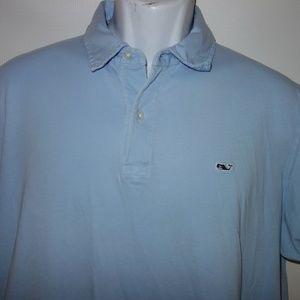 Vineyard Vines Polo Shirt Men L Blue Short Sleeve